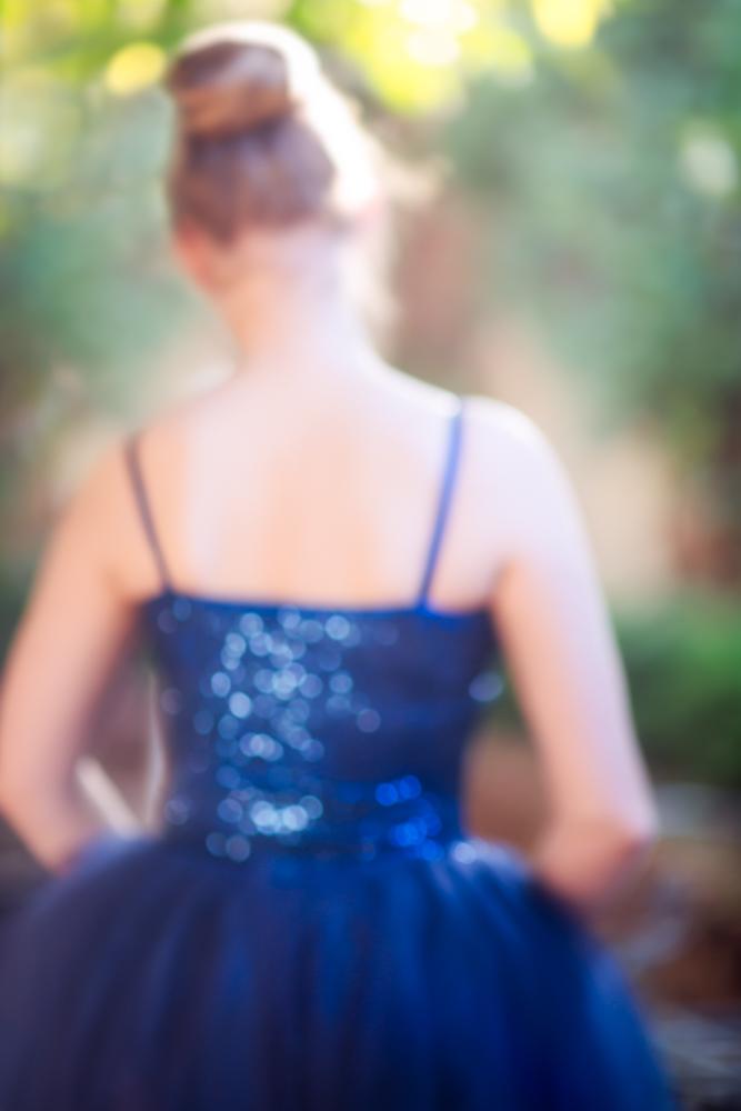 Teenage girl in romantic style ballet tutu