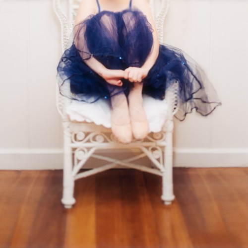 Teenage girl in romantic style ballet tutu